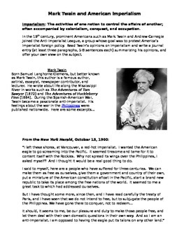 Mark Twain and the Spanish-American War