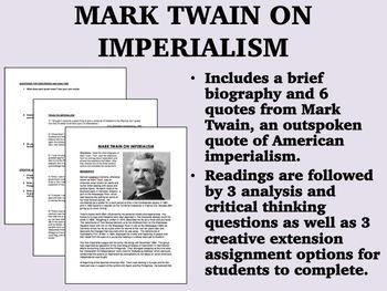 Mark Twain on Imperialism - USH/APUSH