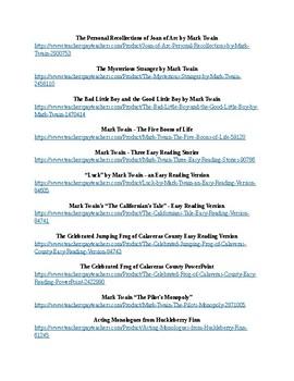 Mark Twain's Shorter Works