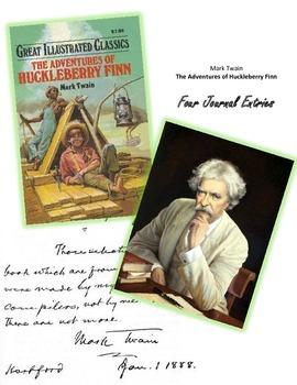Mark Twain's HUCKLEBERRY FINN: Four Journal Entries