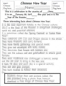 Mark Your Calendar Chinese New Years