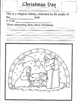 Mark Your Calendar - Christmas Activity