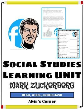 Mark Zuckerberg Founder of Facebook - Social Studies Unit