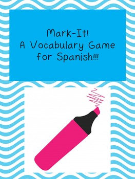 Mark it! Spanish Vocab Game Preview