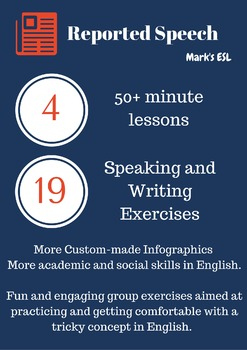 Mark's ESL - Reported Speech Lesson Pack