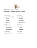 "Mark the classroom objects Cafe Tacuba ""Eres"" Song Activity"