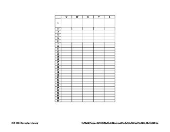 Markbook Sample Template