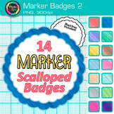 Marker Badges Clip Art {Labels & Frames for Worksheets & Resources} 2