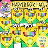 Marker Box Faces: Back-to-School Clipart {DobiBee Designs}