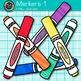 Rainbow Marker Clip Art {Back to School Supplies for Classroom Decor} 1