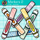 Rainbow Marker Clip Art {Back to School Supplies for Classroom Decor} 2