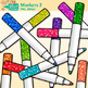 Thick Marker Clip Art {Rainbow Glitter Back to School Supplies for Teachers} 2