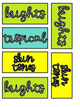 Marker Labels FREEBIE