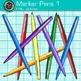 Rainbow Marker Pens Clip Art {Back to School Supplies for Classroom Decor} 1