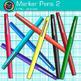 Marker Pens Clip Art 2 - Back to School Supplies Clip Art