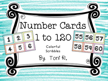 Marker Scribles  Number Squares - For Number Lines and Charts