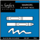 Markers 1 Clipart {A Hughes Design}