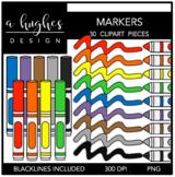 Markers 1 Clipart {A Hughes Design}