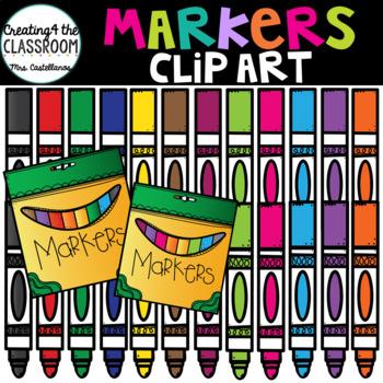 Markers Clip Art {School Clip Art}