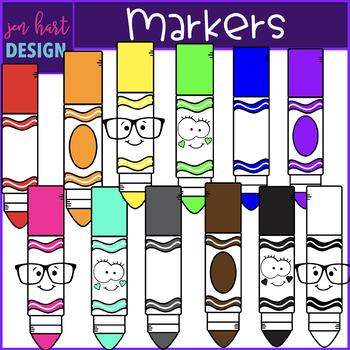 Markers Clip Art- School Supplies {jen hart Clip Art)