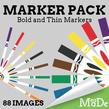 Markers Clipart Pack