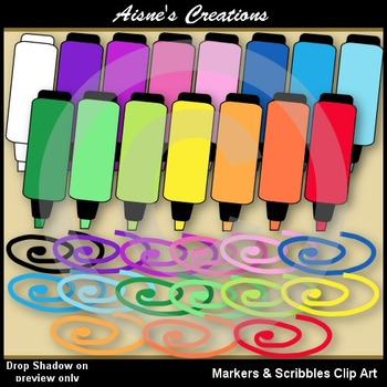 Markers & Scribble Clip Art Graphics