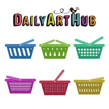 Market Basket Clip Art - Great for Art Class Projects!