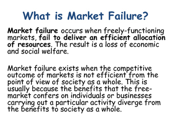 Market Failure, Government Intervention & Allocative Efficiency - Economics