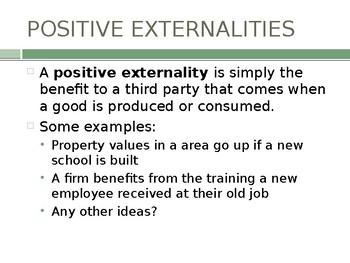 Market Failure Lesson 3 - Positive Externalities