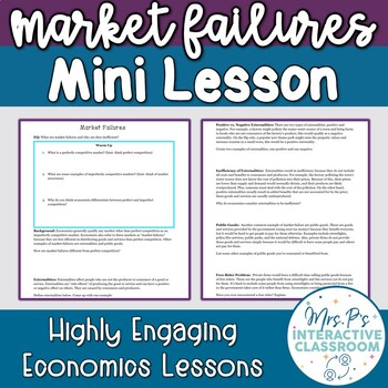 Market Failures Economics Mini Lesson!