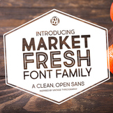 Market Fresh Font Family for Commercial Use