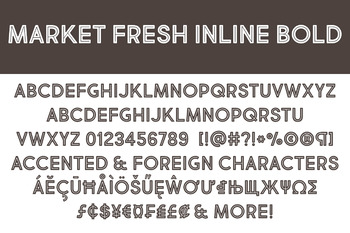Market Fresh Inline Bold Font for Commercial Use