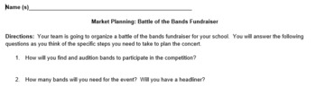 Market Planning Activity: Battle of the Bands Student Activity Project Based