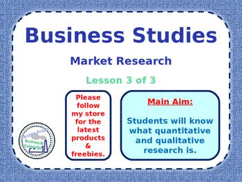 Market Research - Lesson 3/3 - Quantitative & Qualitative