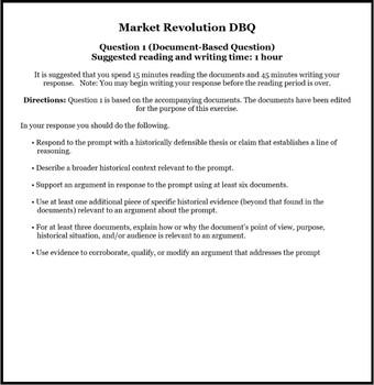 dbq womens rights the market revolution