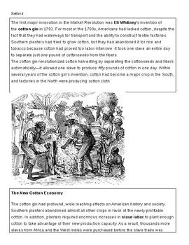 Market Revolution Stations Lesson Plan for US History