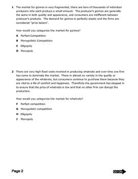 Market Structures Quiz