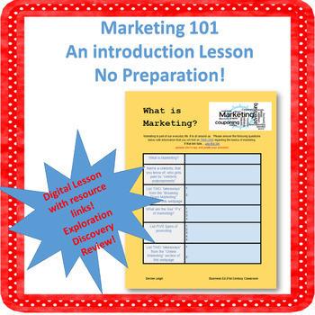 Marketing 101 Digital Activity-NO PREP!
