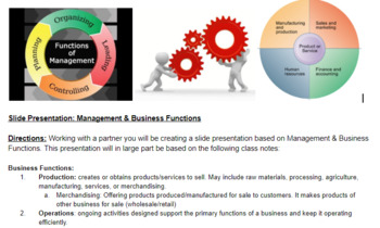 Marketing/Business: Business & Management Slides Presentation Activity