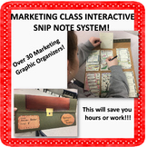 Marketing Class Interactive Snip Notes System! Tons of Gra