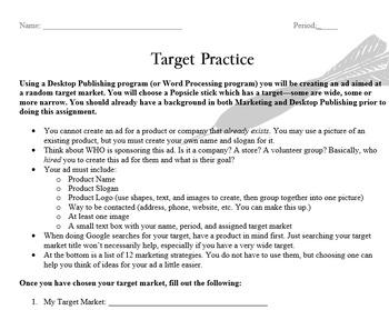Marketing & Desktop Publishing - Target Practice