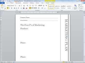 Marketing Handout