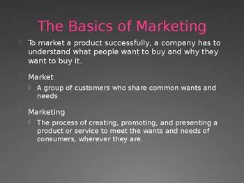 Marketing - Intro to Business Ch. 13