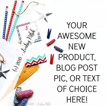 Marketing Maven Nautical Design: Product Mockup, Blog & Social Media
