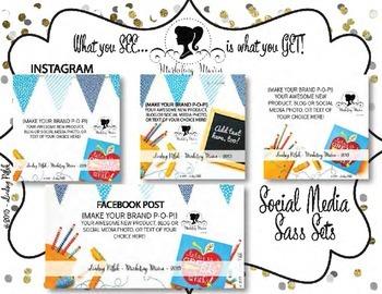 Marketing Maven BRIGHT DAY MEGA PACK: Product Mockup, Blog & Social Media
