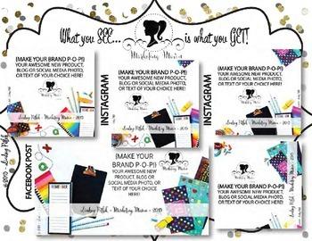 Marketing Maven SCHOOL BRIGHTS MEGA PACK: Product Mockup, Blog & Social Media
