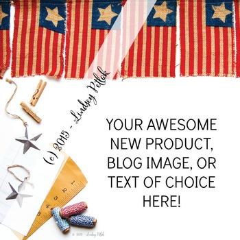 Marketing Maven VINTAGE AMERICAN FLAGS: Product Mockup, Blog Image, Social Media