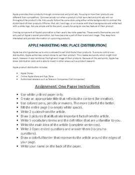 Marketing Mix AVID One Pager