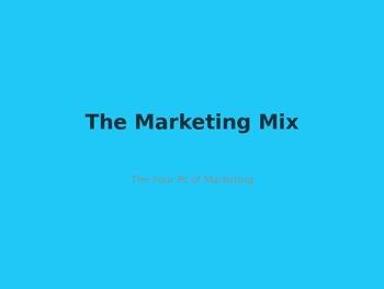 Marketing Mix PowerPoint