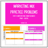 Marketing Mix (The 4 P's) Practice Problems for a Computer